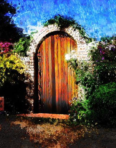 door-oasis-painting